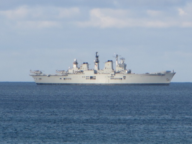 HMS illustrious, Mounts Bay, Cornwall; 03-06-14
